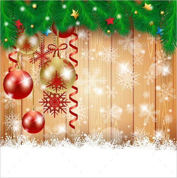 download christmas illustration with baubles and snowflakes