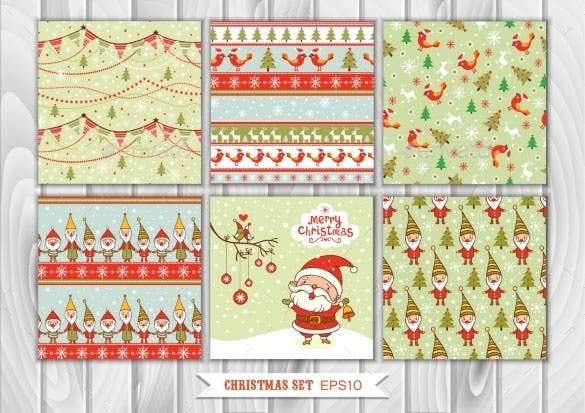 seamless christmas illustrations vector eps