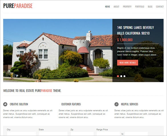 clean real estate html5 theme