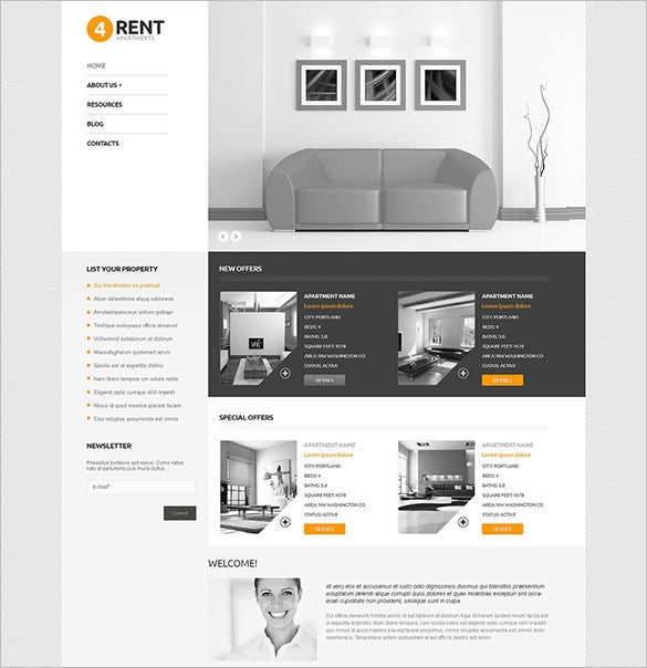 real estate agency html5 wordpress theme