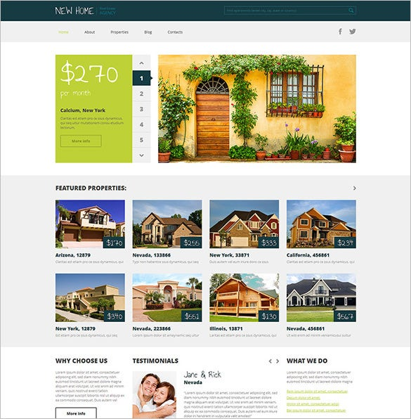 real estate agency responsive html5 theme