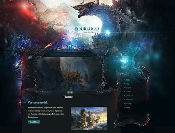 dragon gaming joomla theme1