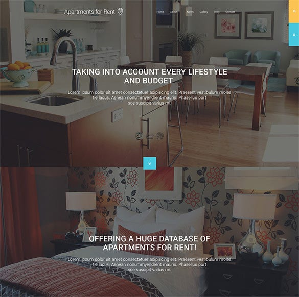 apartments for rent bootstrap template