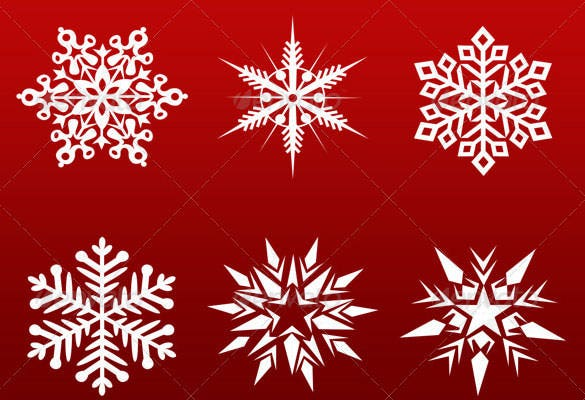 30 hq christmas snowflakes photoshop psd format
