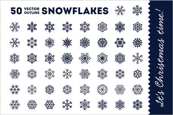 50 vector snowflakes for christmas png download