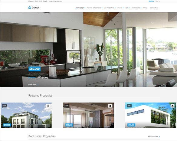 real estate bootstrap theme download