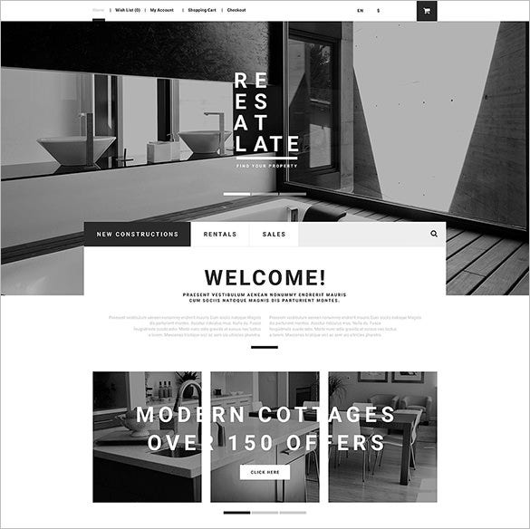 real estate opencart bootstrap template