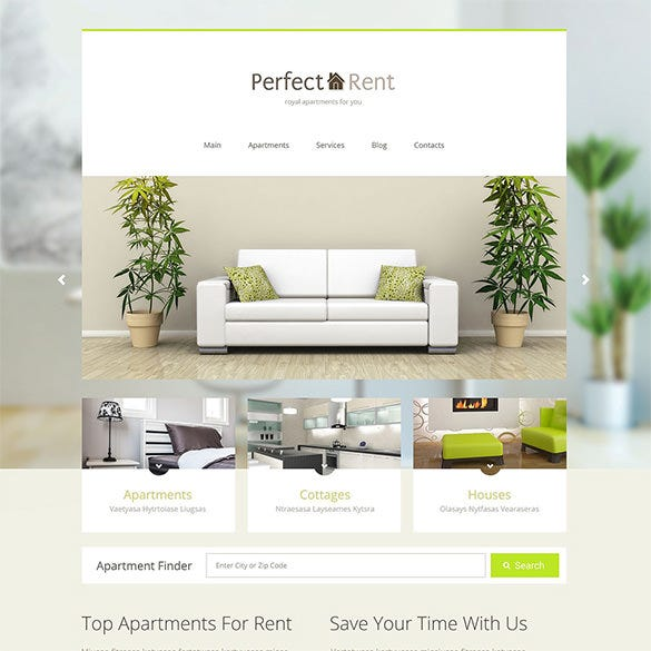perfect real estate bootstrap template
