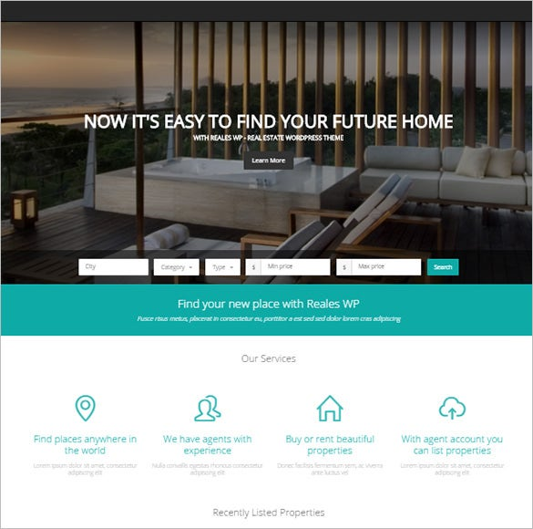 premium real estate bootstrap theme