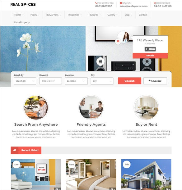 bootstrap real estate theme download