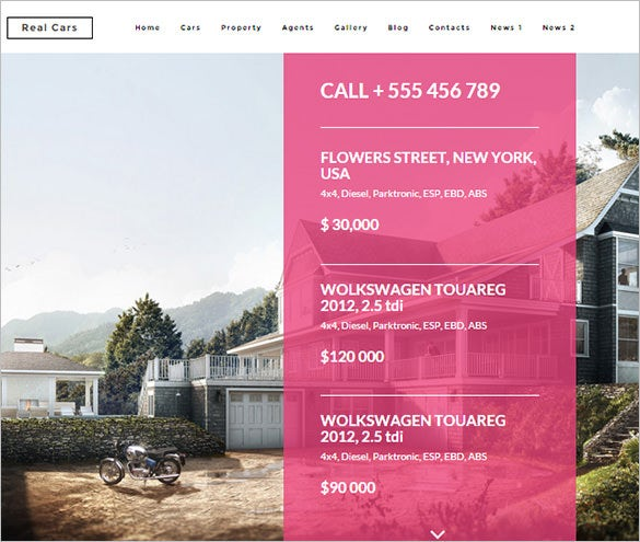 bootstrap theme for real estate