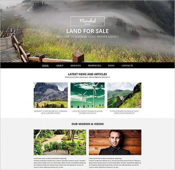 land broker responsive bootstrap template