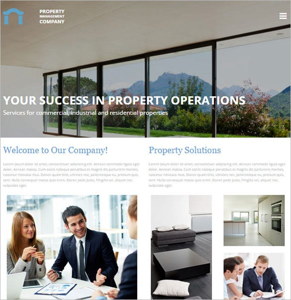 property management responsive bootstrap theme