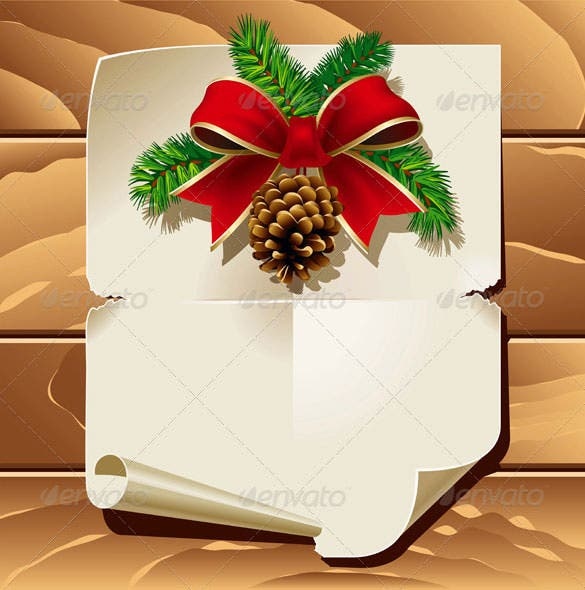 premium christmas letter template vector eps download