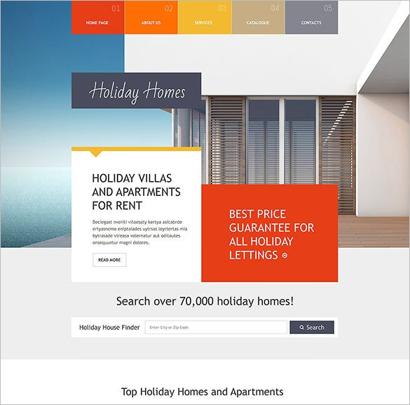 real estate agency responsive bootstrap template