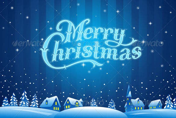 merry christmas lettering template psd design