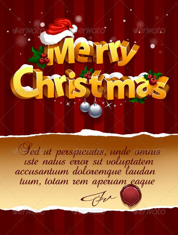 download three dimensional christmas lettering template