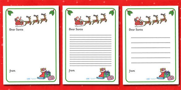christmas letter to santa writing template download