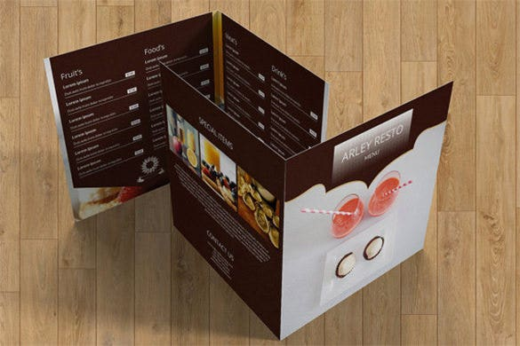 food menu restaurant menu brochure