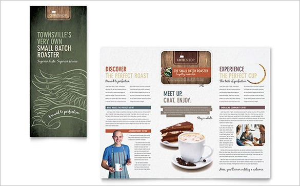 coffee shop brochure template
