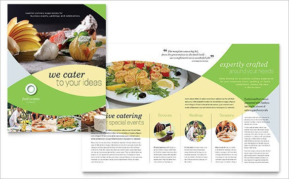 food catering brochure template