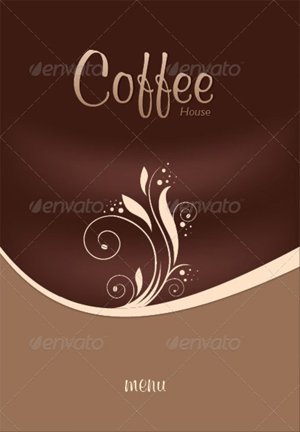 coffee shop restaurant menu brochure
