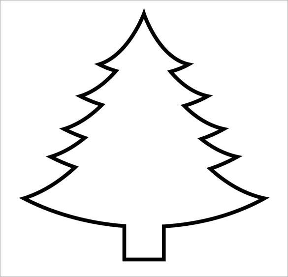 The Printable Christmas Tree Template Is A Simple Christmas Tree Template  That Contains A Blank Christmas Tree. Color It According To Wish And Add  Ornaments ...  Blank Christmas Templates