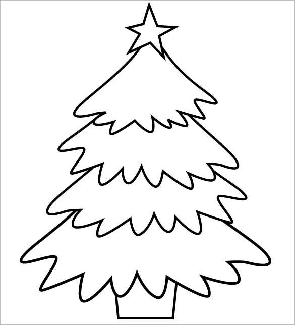christmas trees printable coloring page