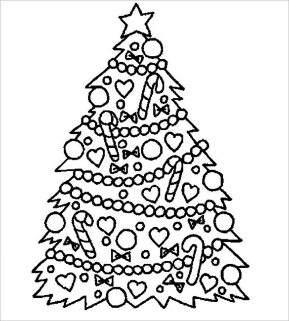 christmas trees printable coloring download