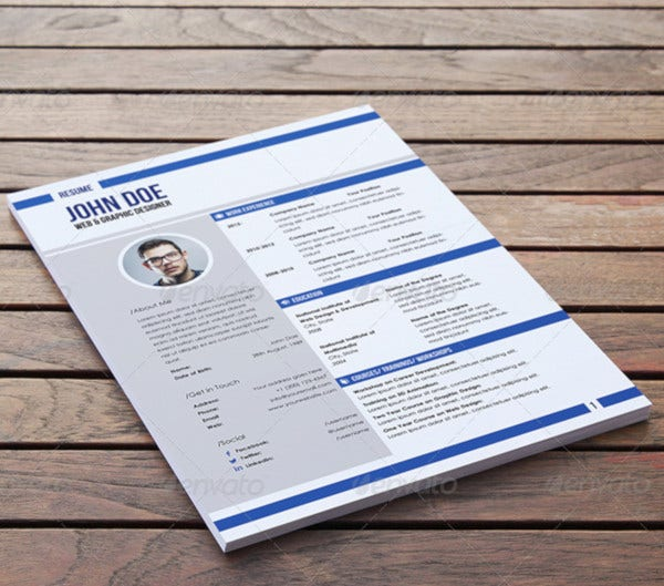 a4 and us letter resume template