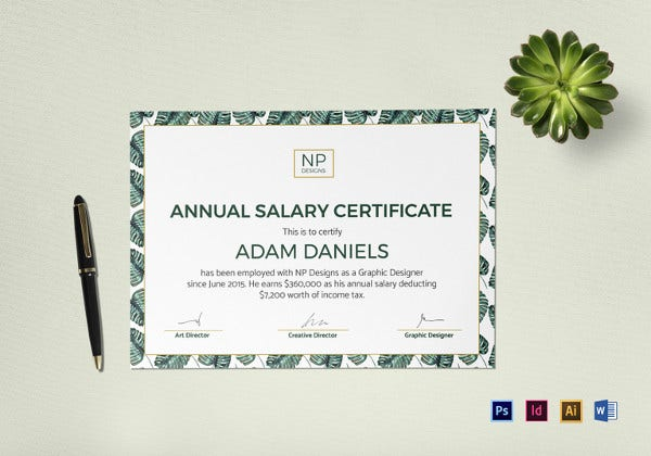 annual-salary-certificate-template