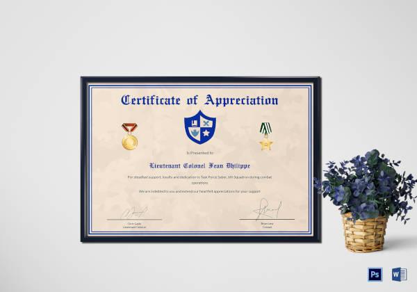 army-certificate-of-appreciation-template