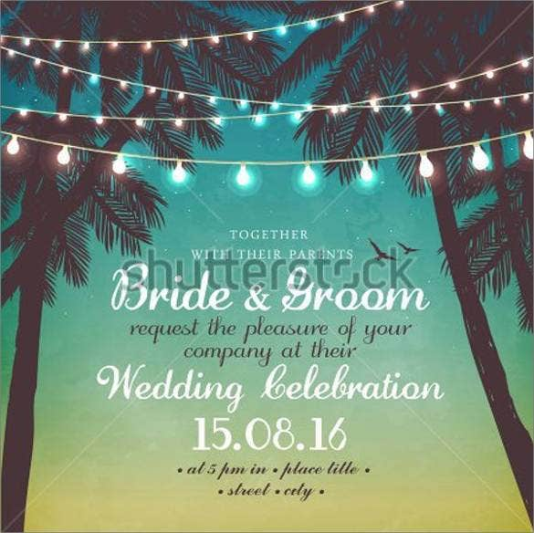 beach wedding reception program template1