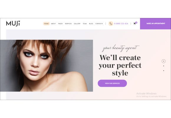 beauty shop spa salon wordpress theme