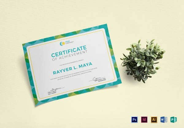 blank certificate template in indesign