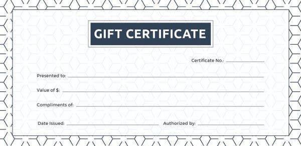 photograph relating to Printable Gift Certificate Template identified as 12+ Blank Present Certification Templates Cost-free Pattern, Case in point