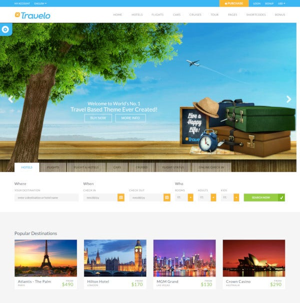 booking html5 template