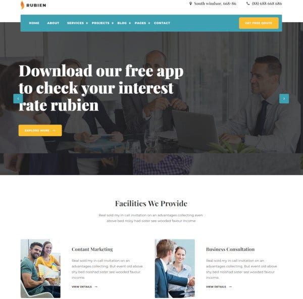 business corporate bootstrap 4 template