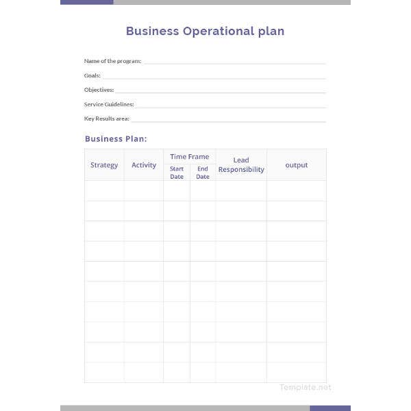 22 Operational Plan Templates Pdf Docs Free Premium Templates
