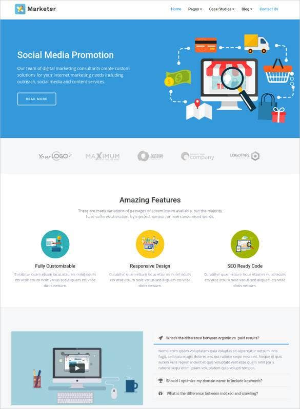 css template for social media online marketing 1