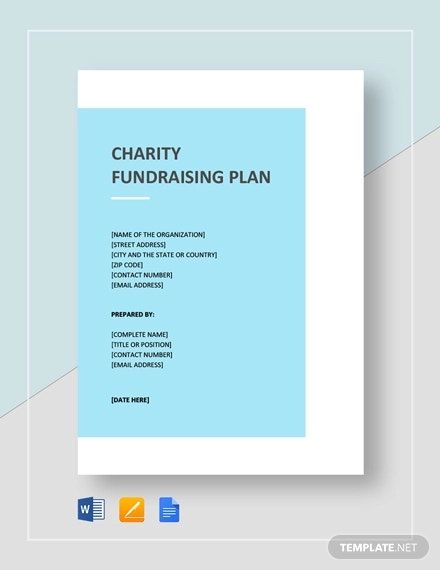 charity fundraising plan template1
