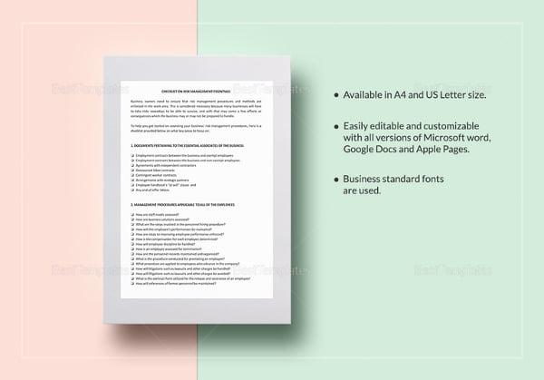 checklist-risk-management-essentials-template