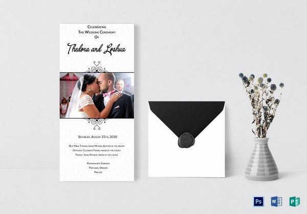 classic wedding invitation card photoshop template
