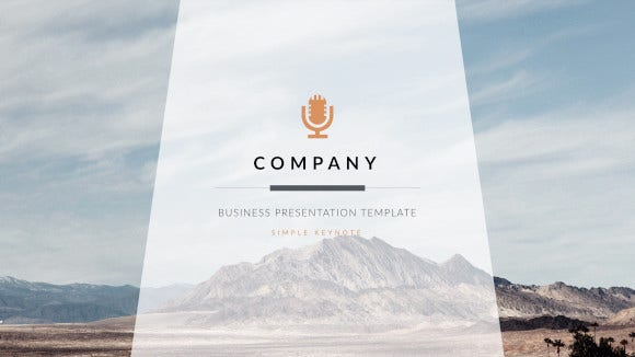 clean trend business keynote template