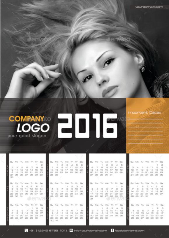 company wall calendar