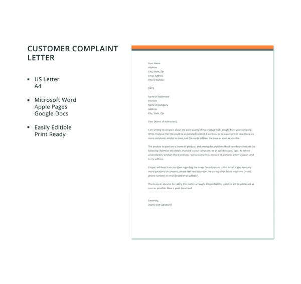 customer-complaint-letter-template