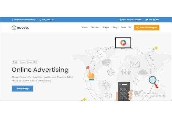 digital marketing agency seo wordpress theme