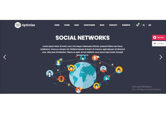 digital marketing social media theme