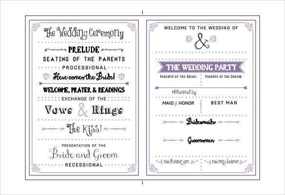diy-wedding-program-example