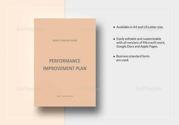 easy-to-edit-performance-improvement-plan-template